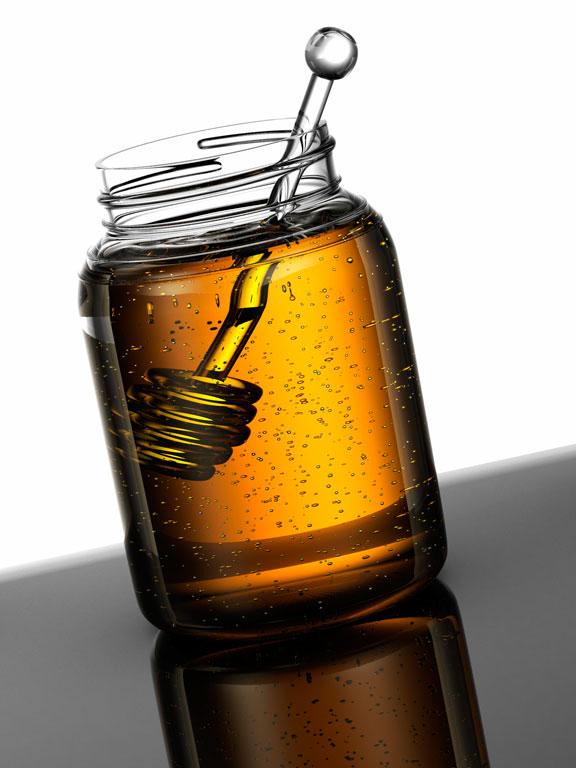 computer generated image of jar of honey