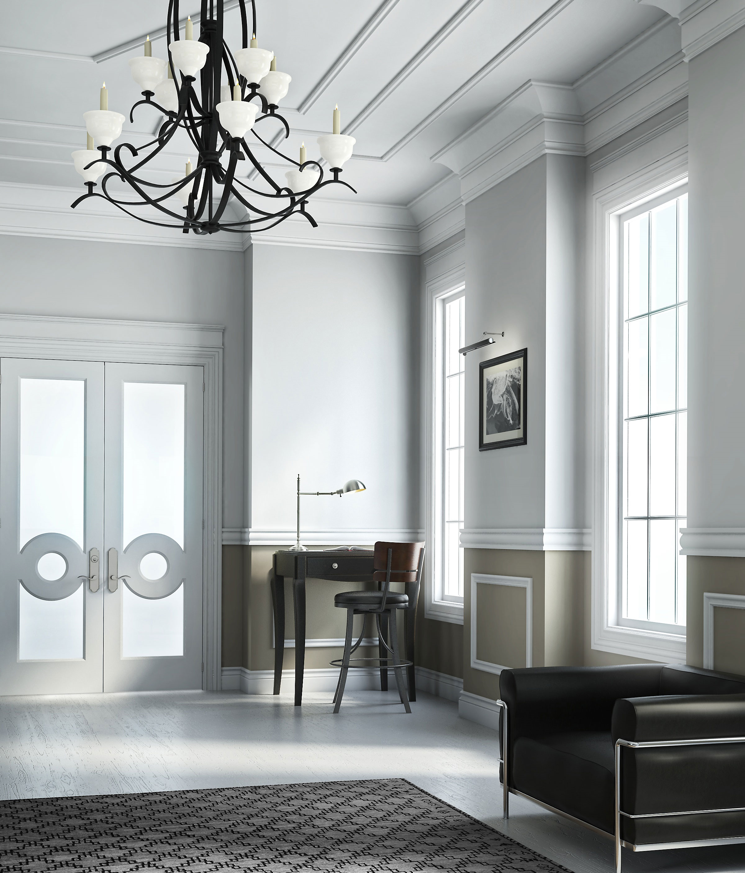 professional computer generated image of foyer
