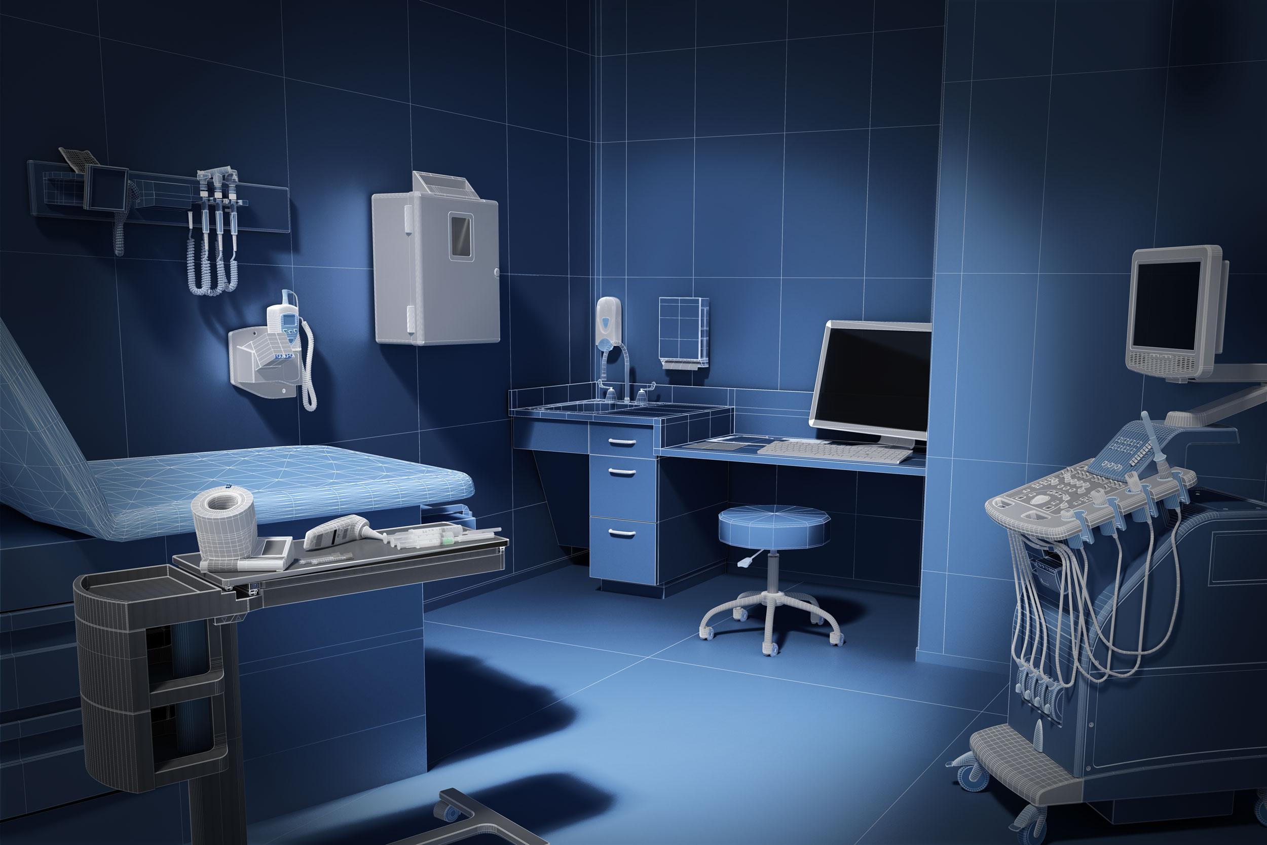 cgi blueprint image of doctors office