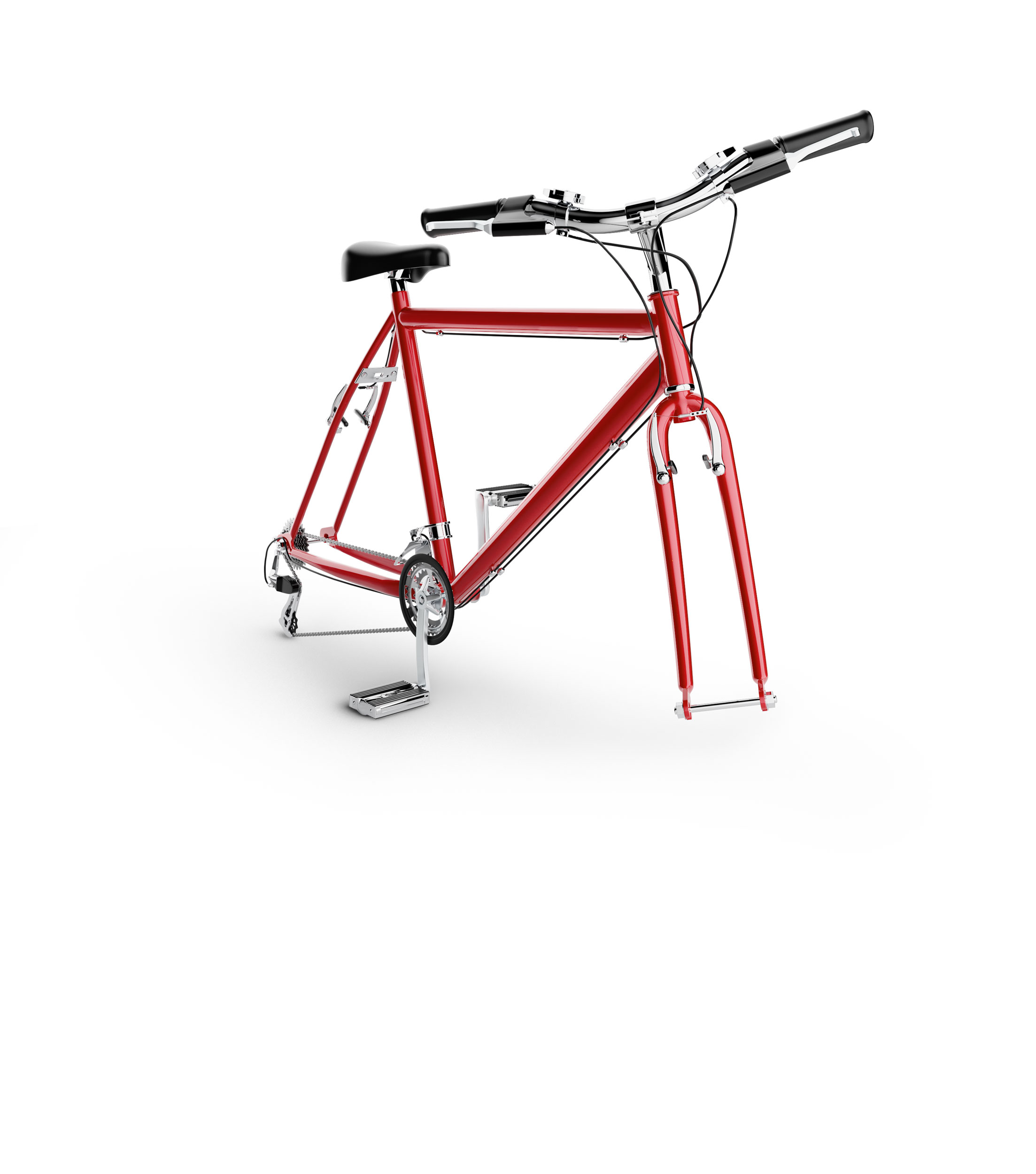 computer generated image of bike frame