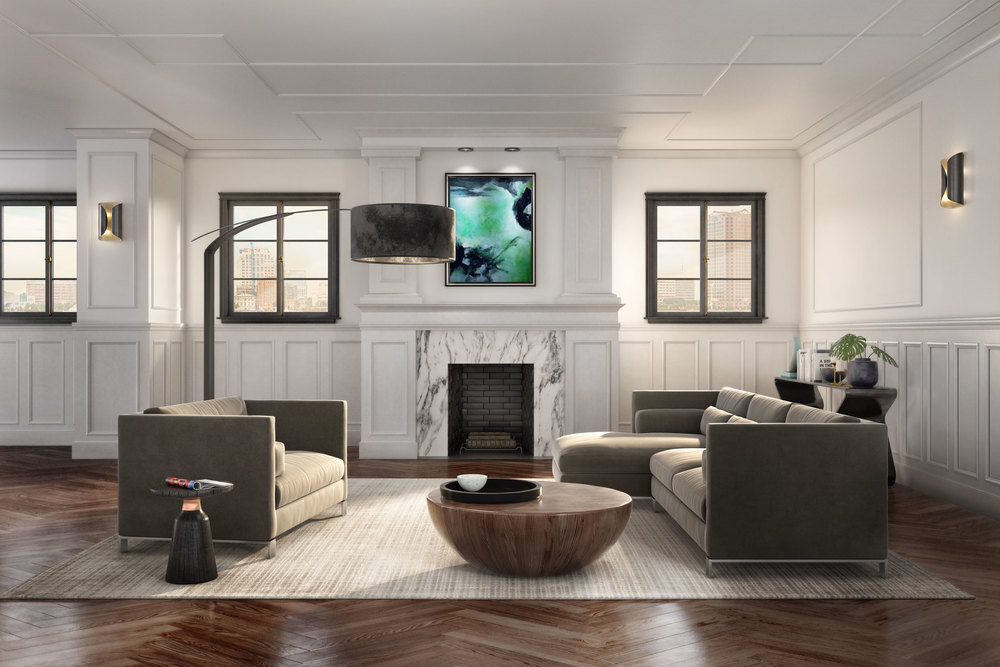 professional cgi of living room