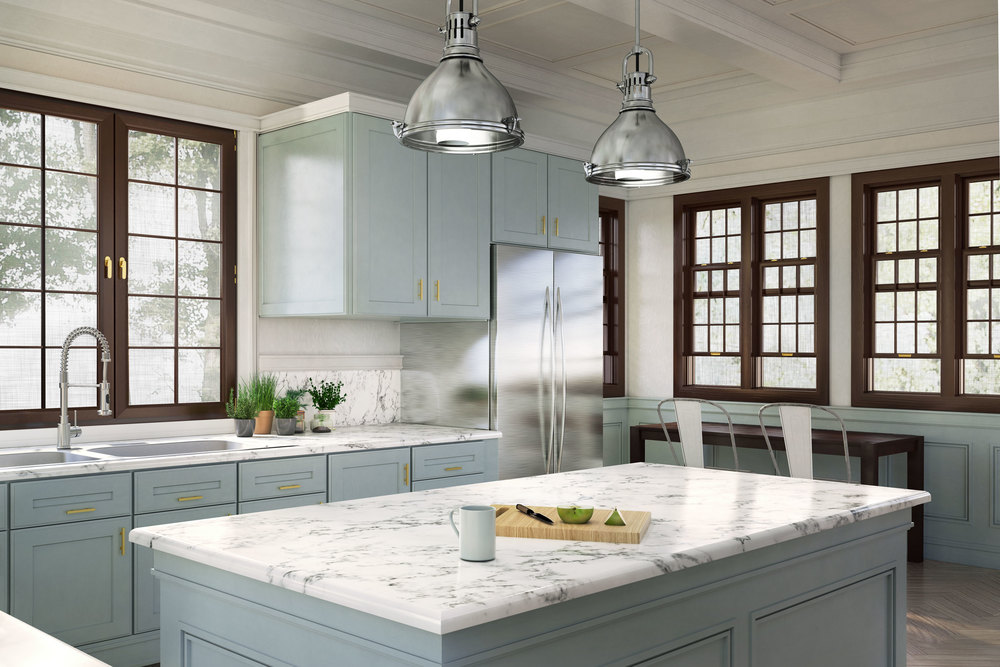 professional computer generated image of kitchen