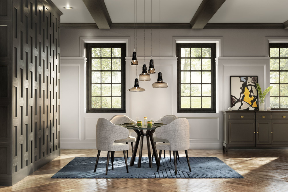 professional cgi photo of dining space