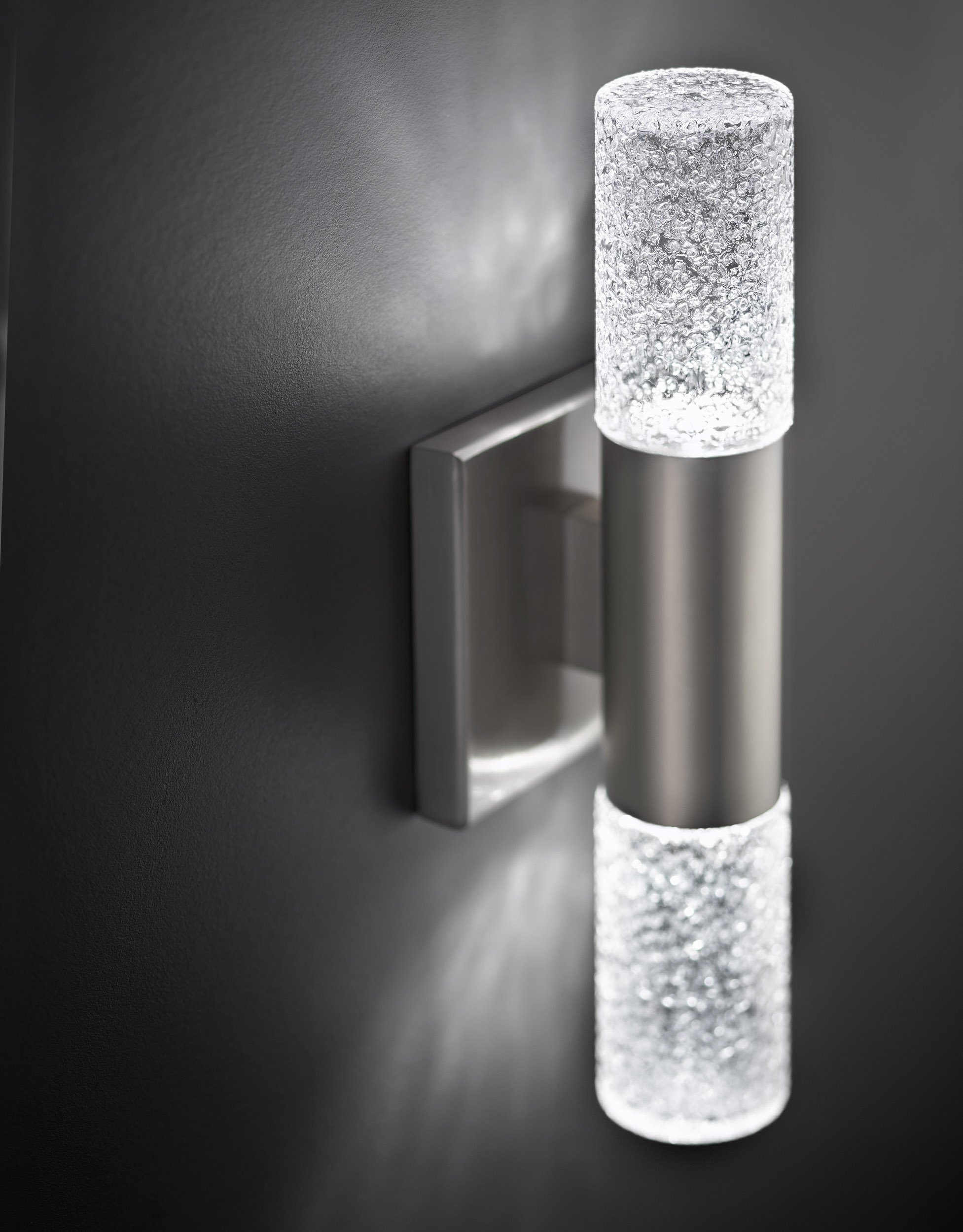 commercial product photography of cylinder wall light