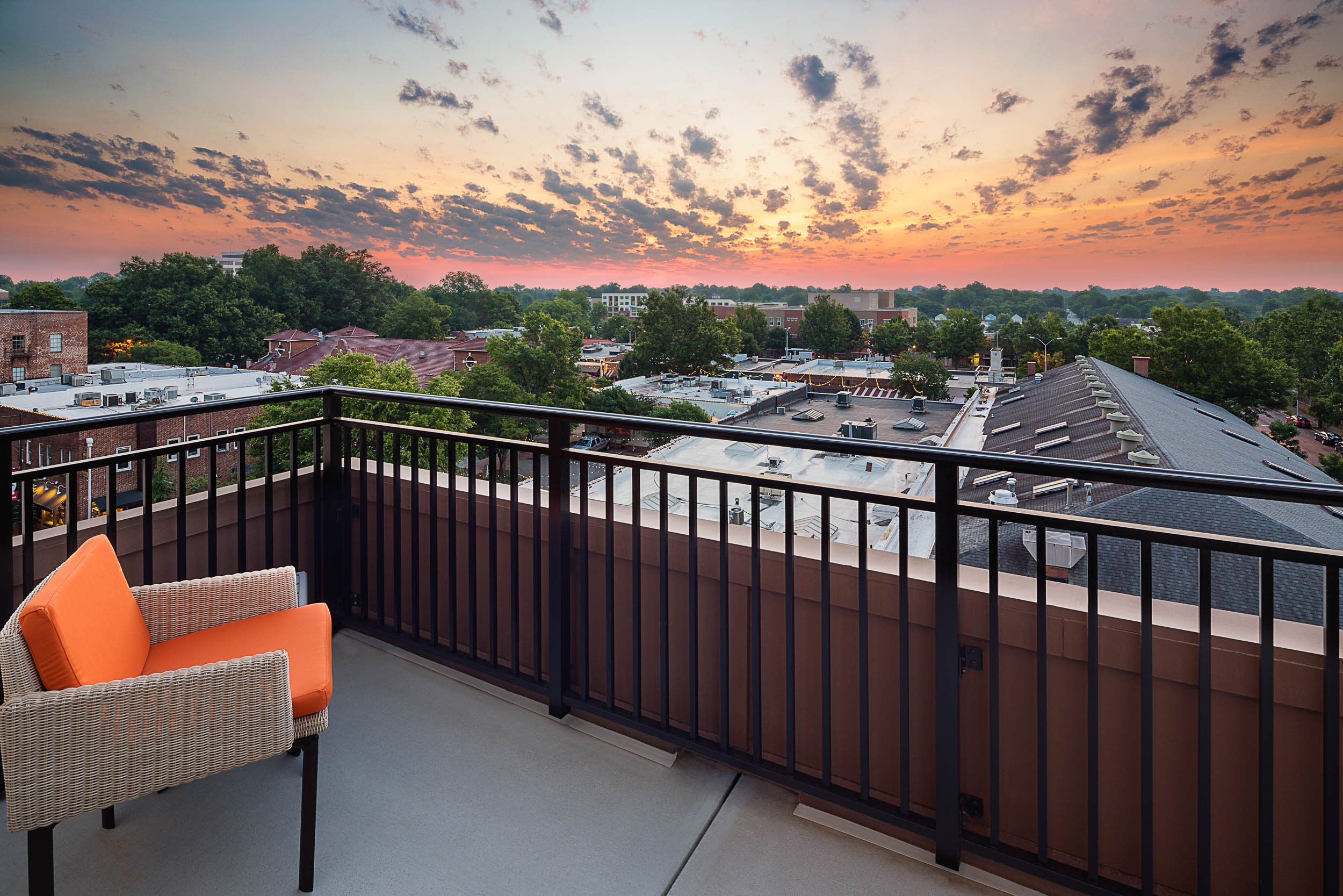 commercial photography image of apartment balcony