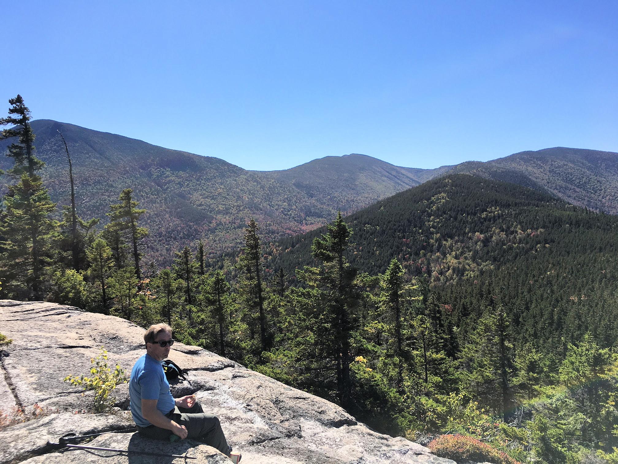 Lunchtime on Mt. Potash, looking south toward Mt. Passaconaway