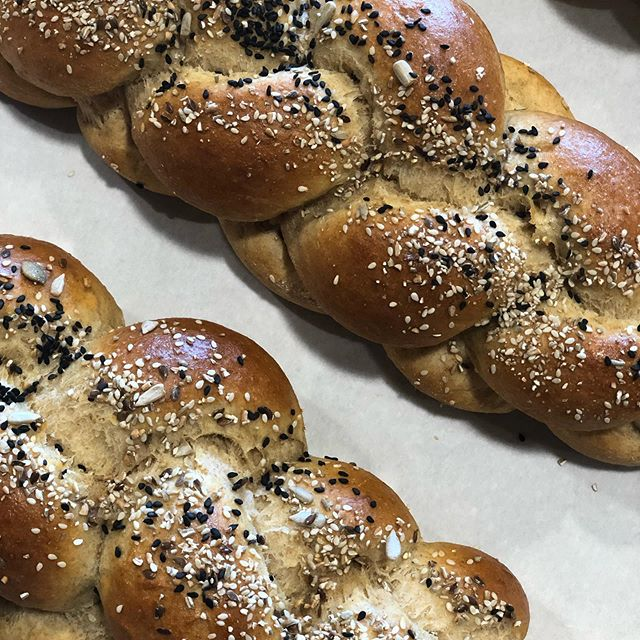It's Friday and the weekend is finally here! Pictured here is our Yecora Rojo Challah. Stop by for a challah or stay for a beer! Happy Friday everyone!