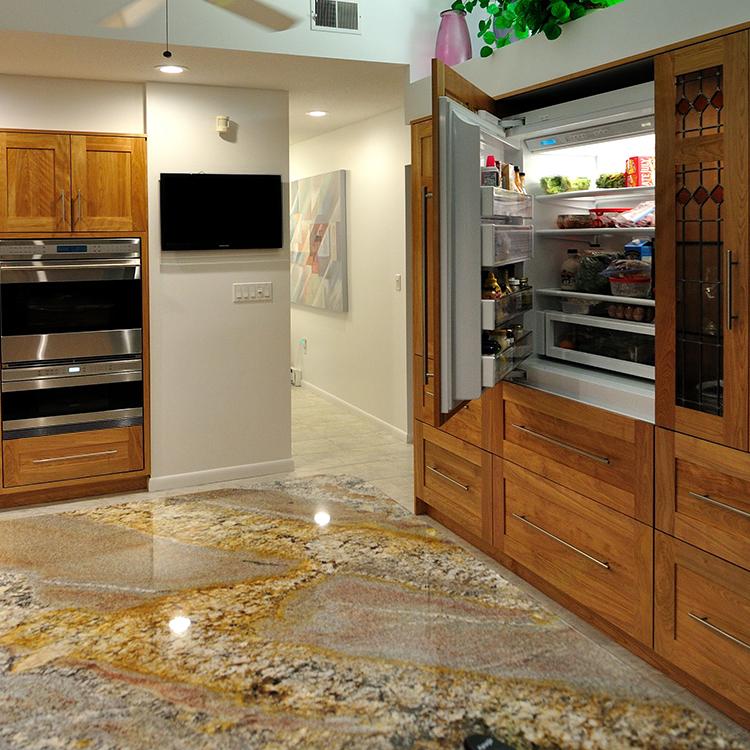 Paneled Built-In Sub-Zero Refrigeration, Wolf Ovens