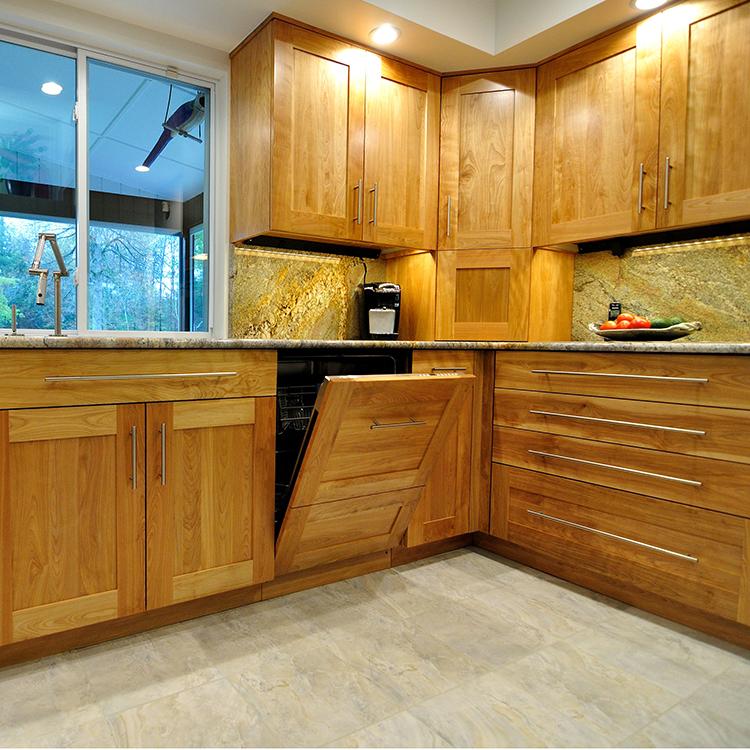 Paneled Dishwasher, Corner Appliance Storage With Aventos Lift Up Door