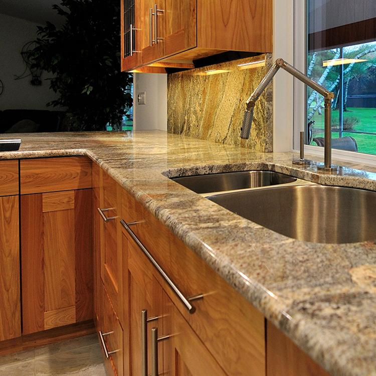 Granite Top With Grain Matched Backsplash, Bullnose Edge