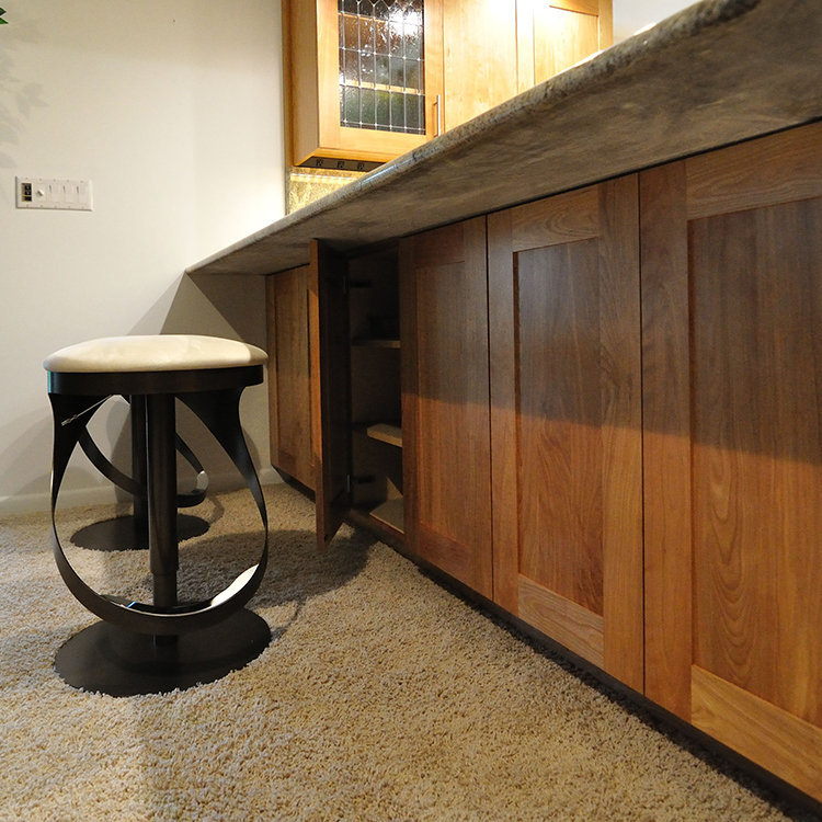 Touch Latch Storage Under Seating Area
