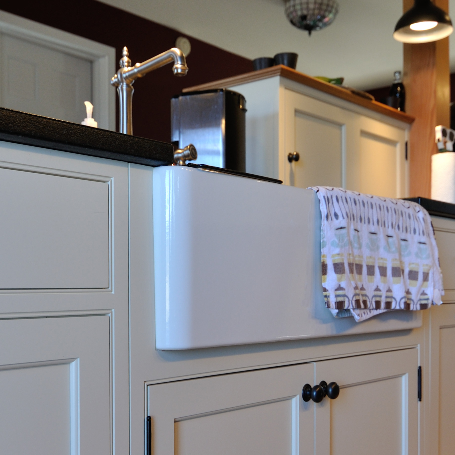 Kohler Artifacts Faucet,Blanco Fireclay Apron Front Sink
