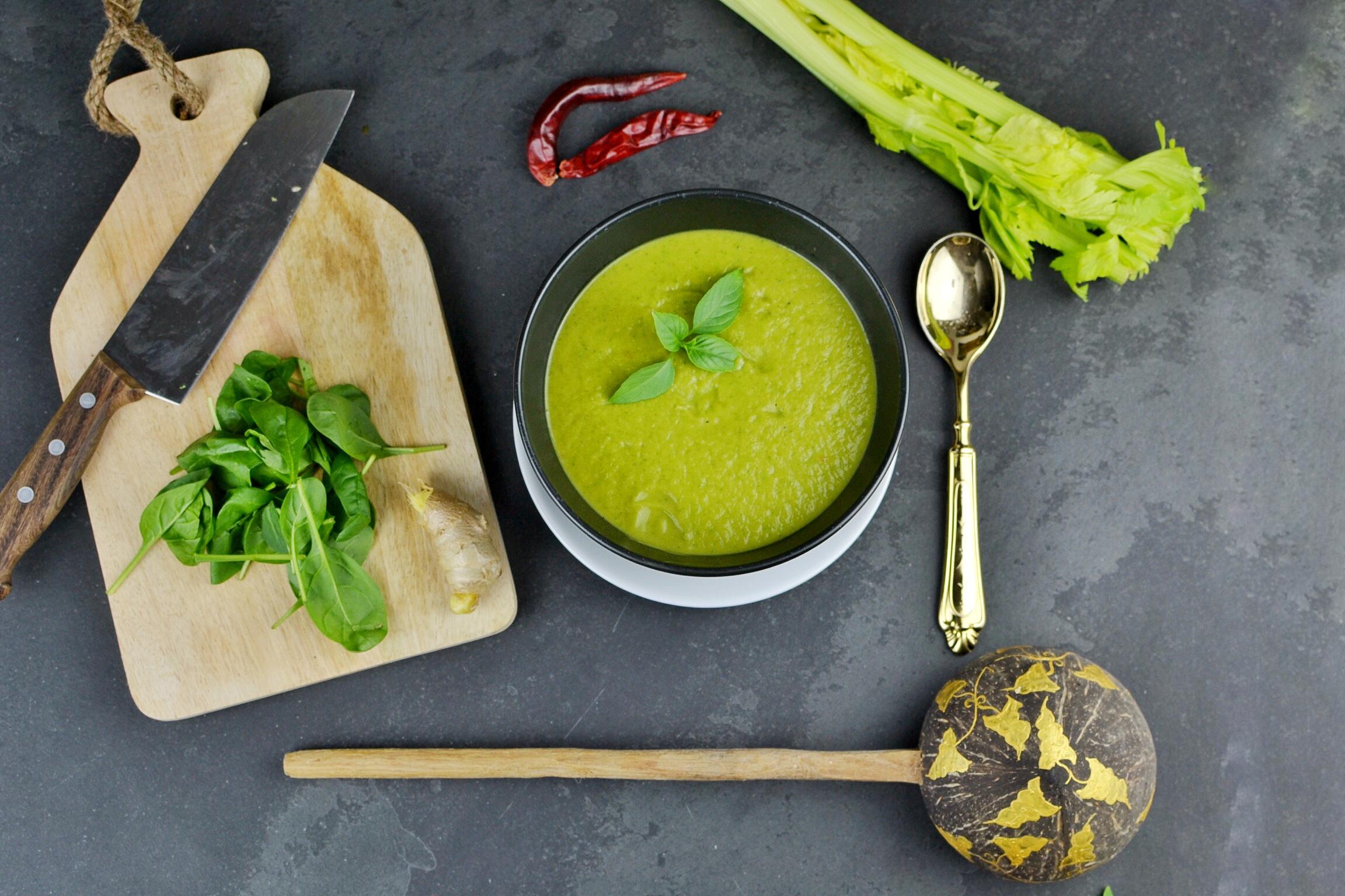 super power green soup