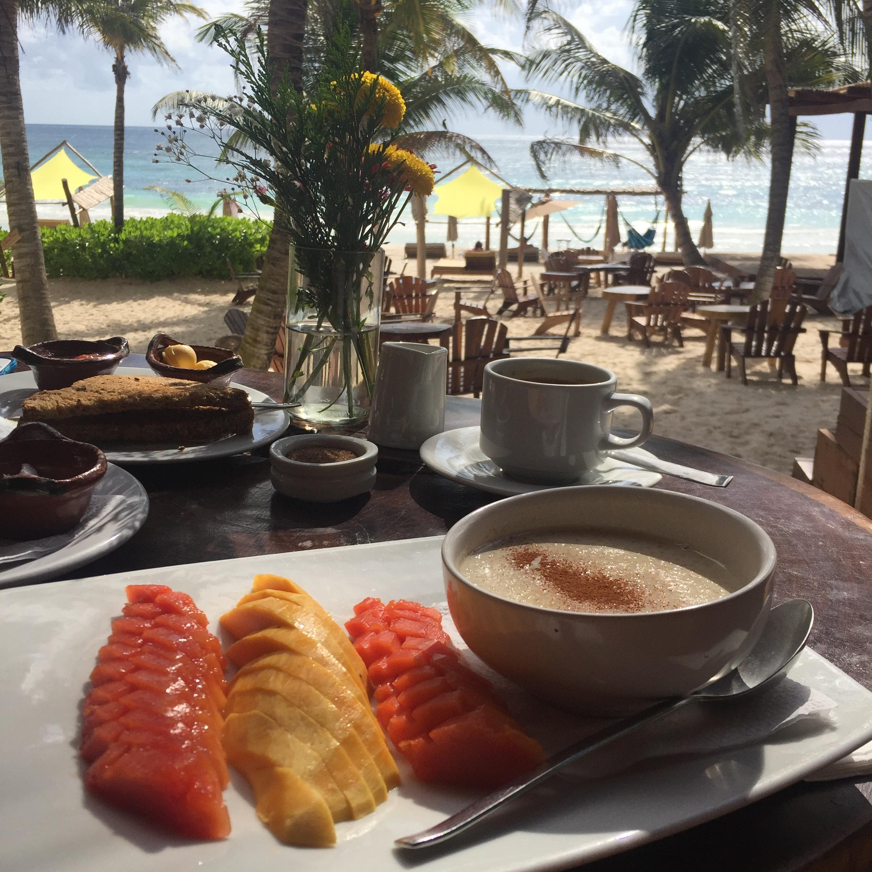 breakfast at Ahau Tulum