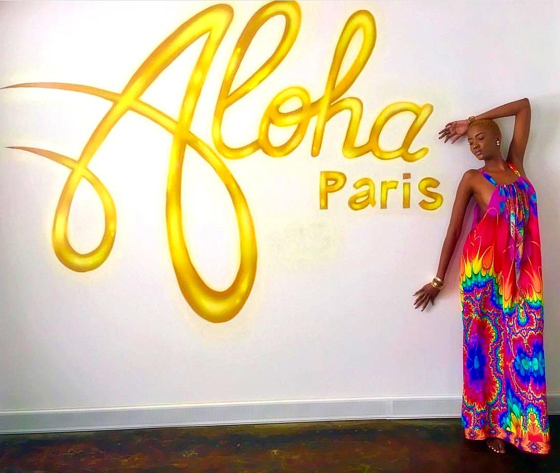 Aloha Paris Showroom Logo mural Downtown Miami, Fl