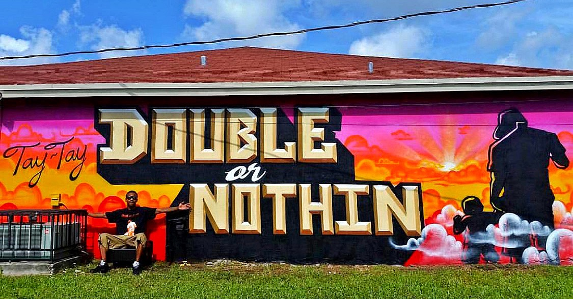 Double or Nothin Movement mural Cutler Bay, Fl