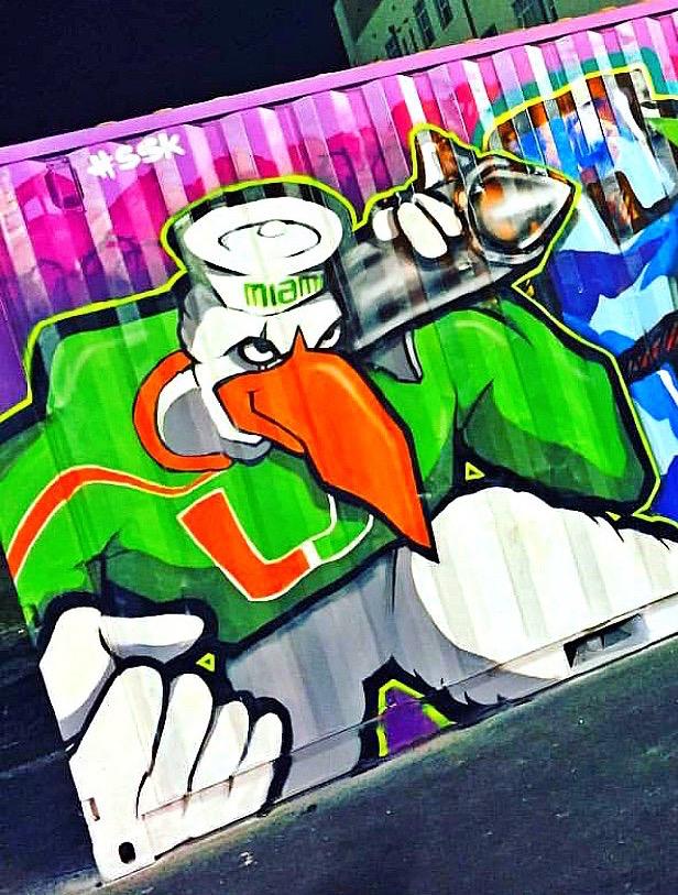 Art Basel mural for Miami vs New York street art battle for WynwoodLife Wynwood, Fl