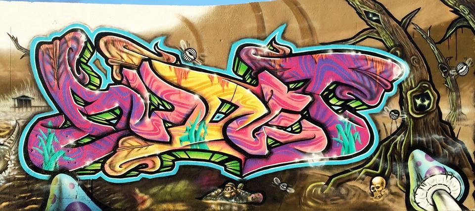 Art Basel graffiti Everglades mural for Mana projects Wynwood, Fl