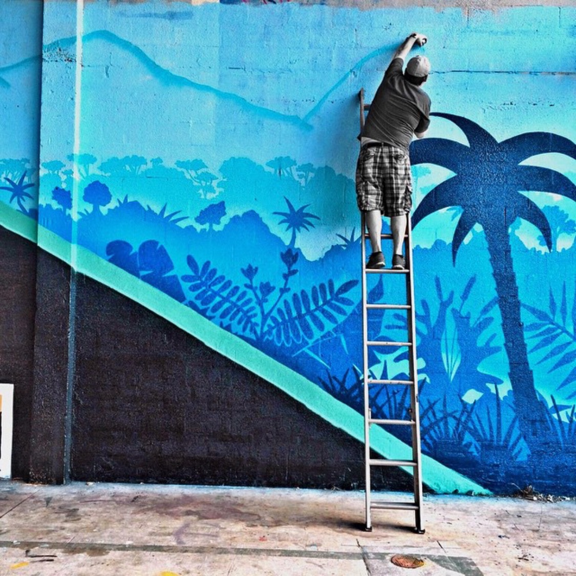 Art Basel mural for Mana projects Wynwood, Fl