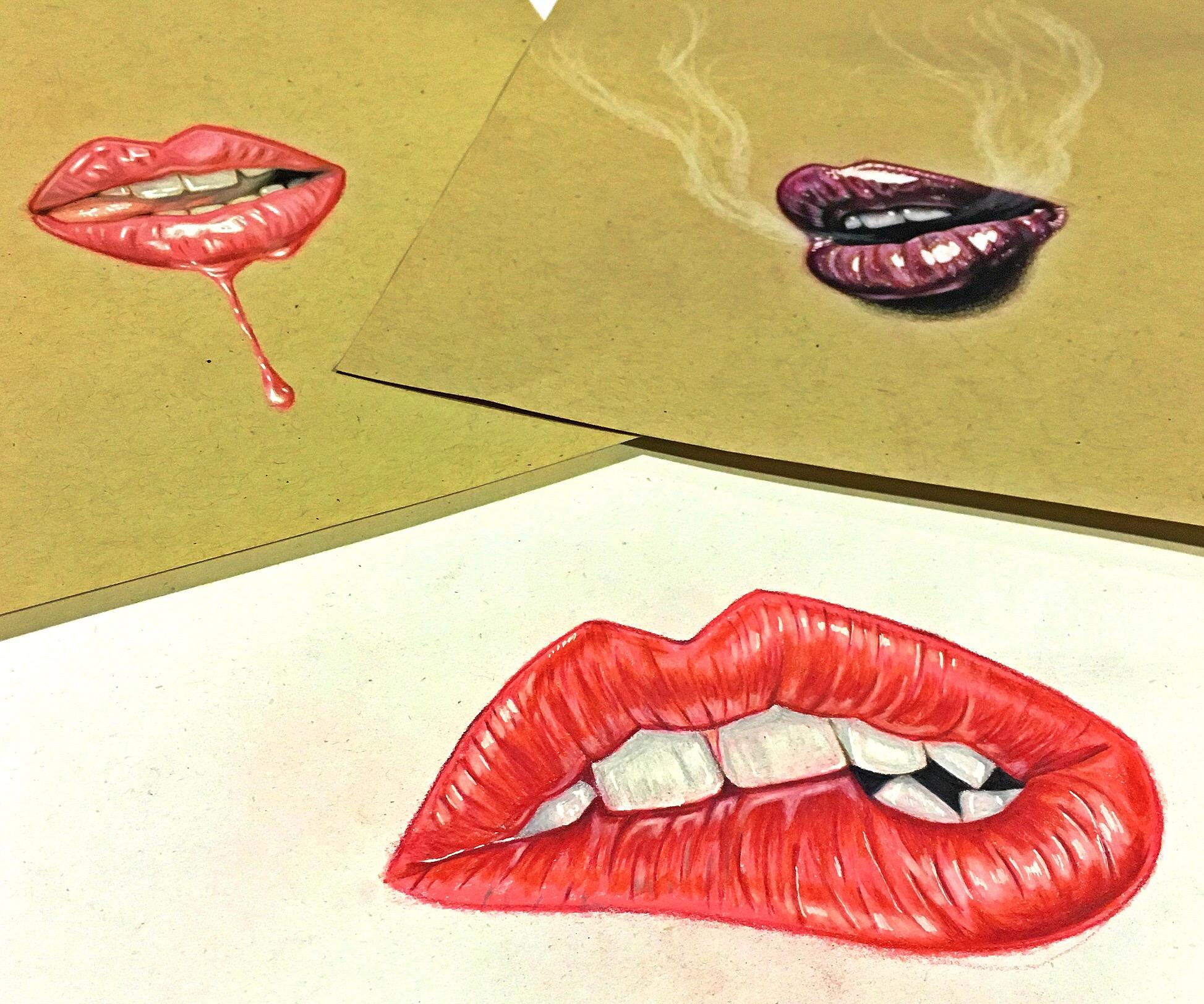 Custom art Red Lip Bandits fashion apparel design Miami Beach, Fl