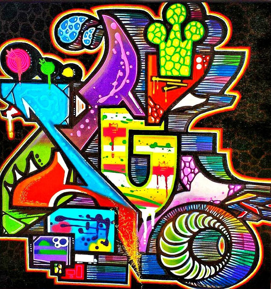 Custom Art abstracted alphabet series Sunny Isles, Fl