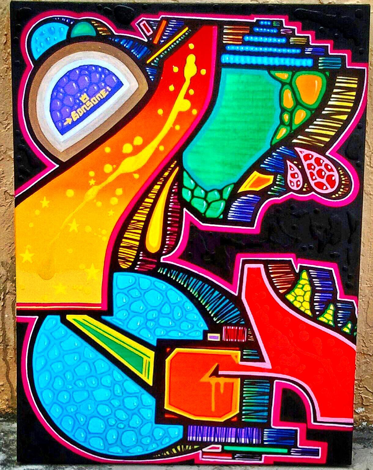 Custom Art abstracted alphabet series CoCo Plum, Fl