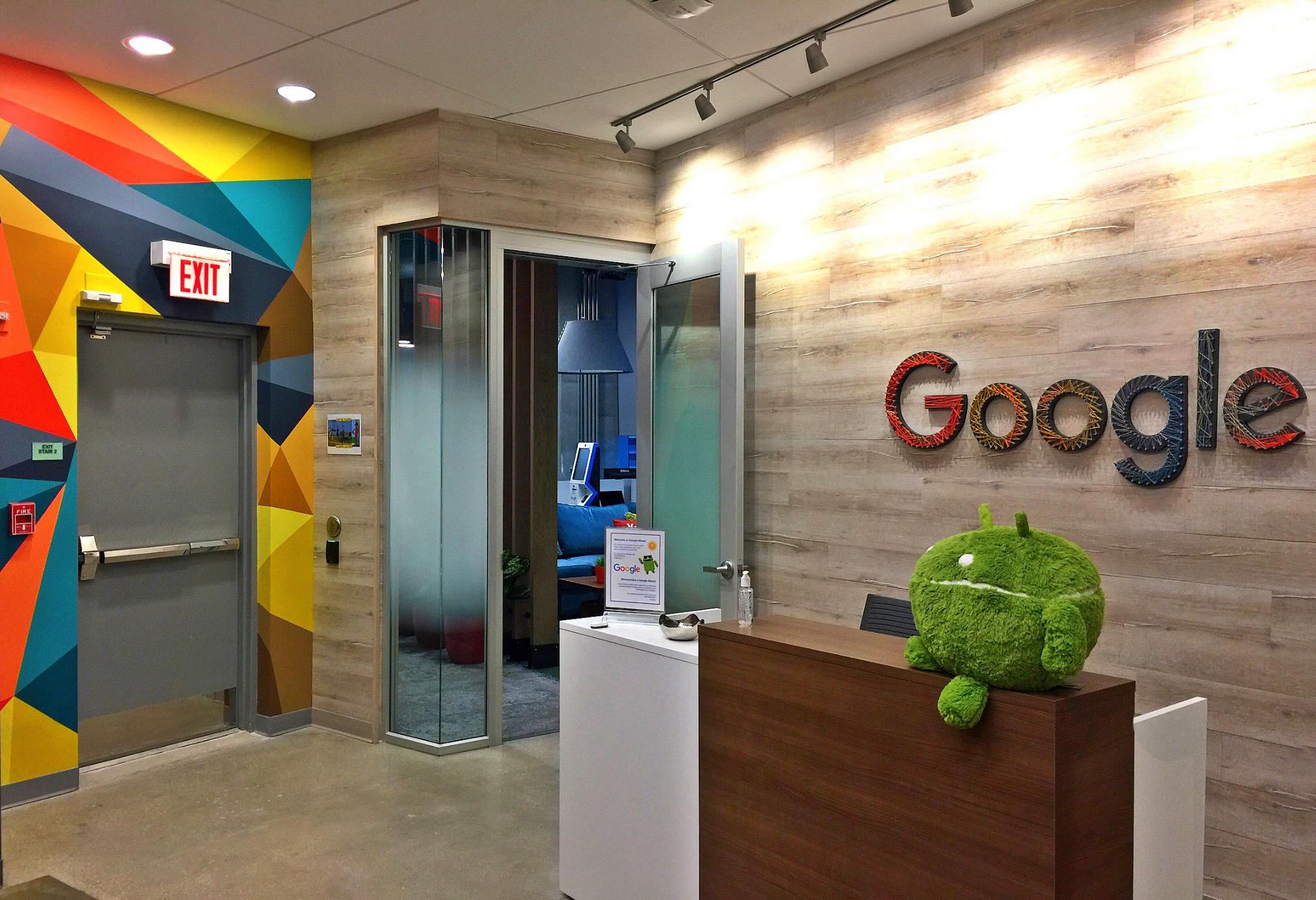 Google office mural Art Basel Brickell, Fl
