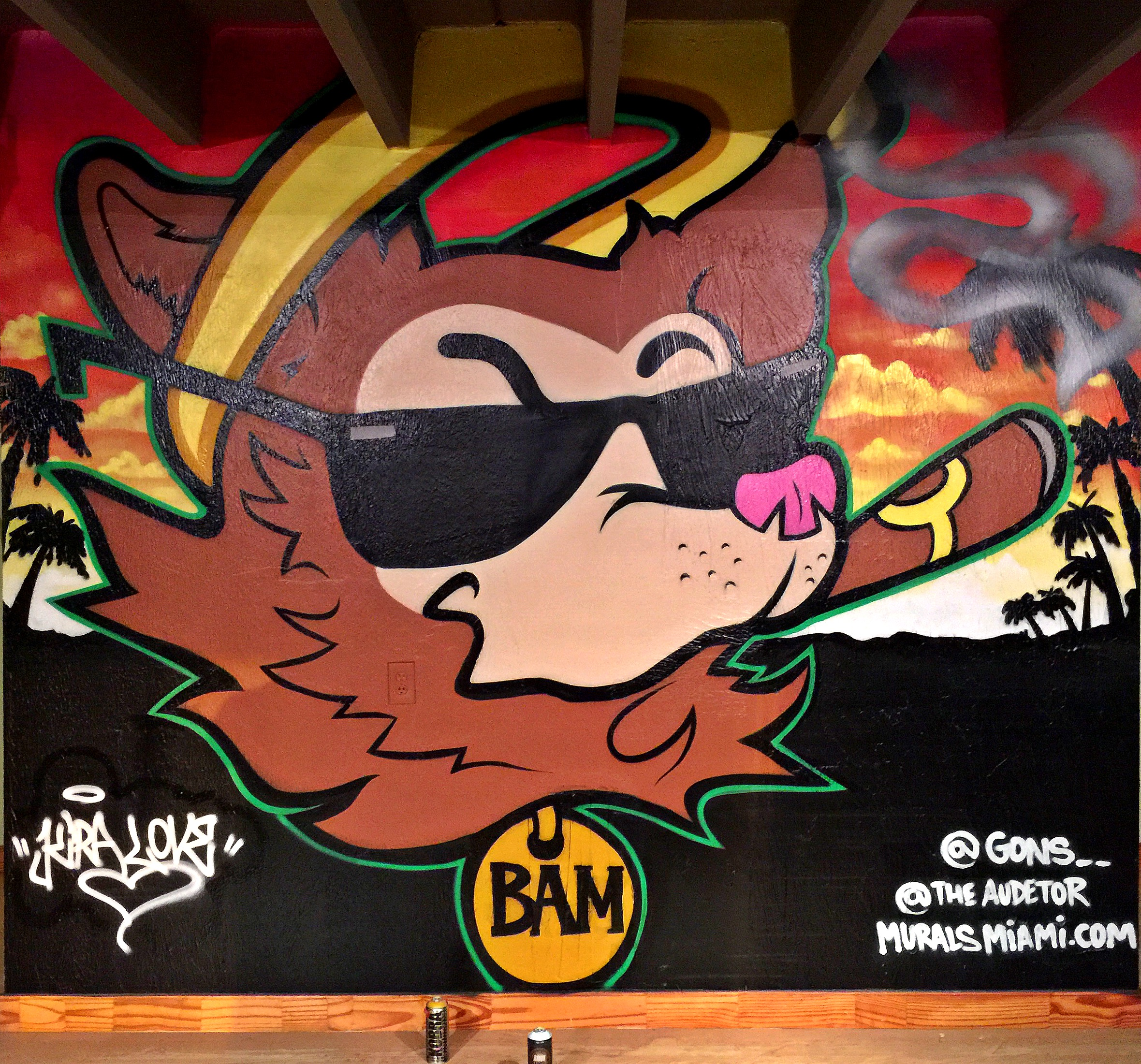 Mural for new Holy Smokes store location Coconut Grove, Fl