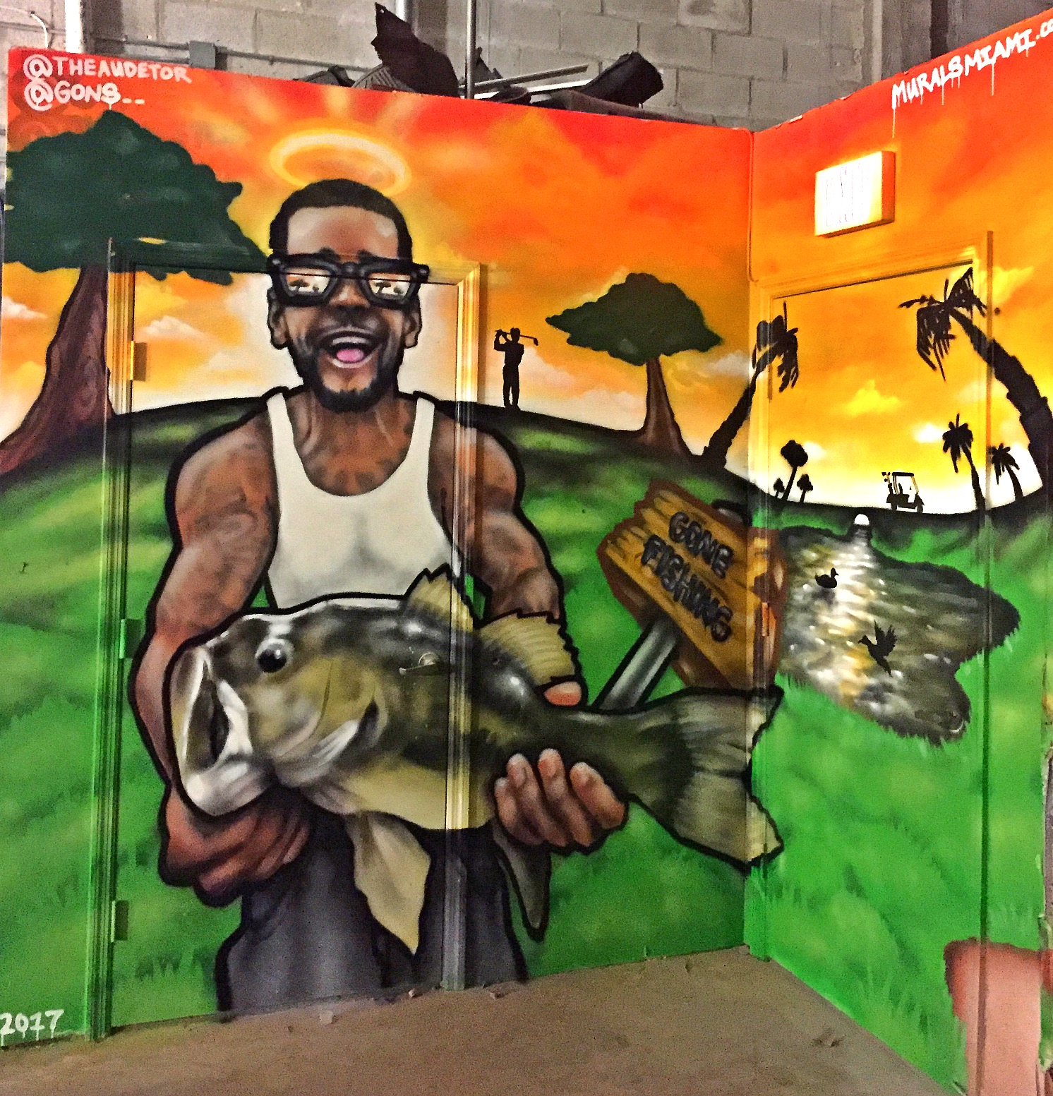 Fishing memorial mural Kendall, Fl