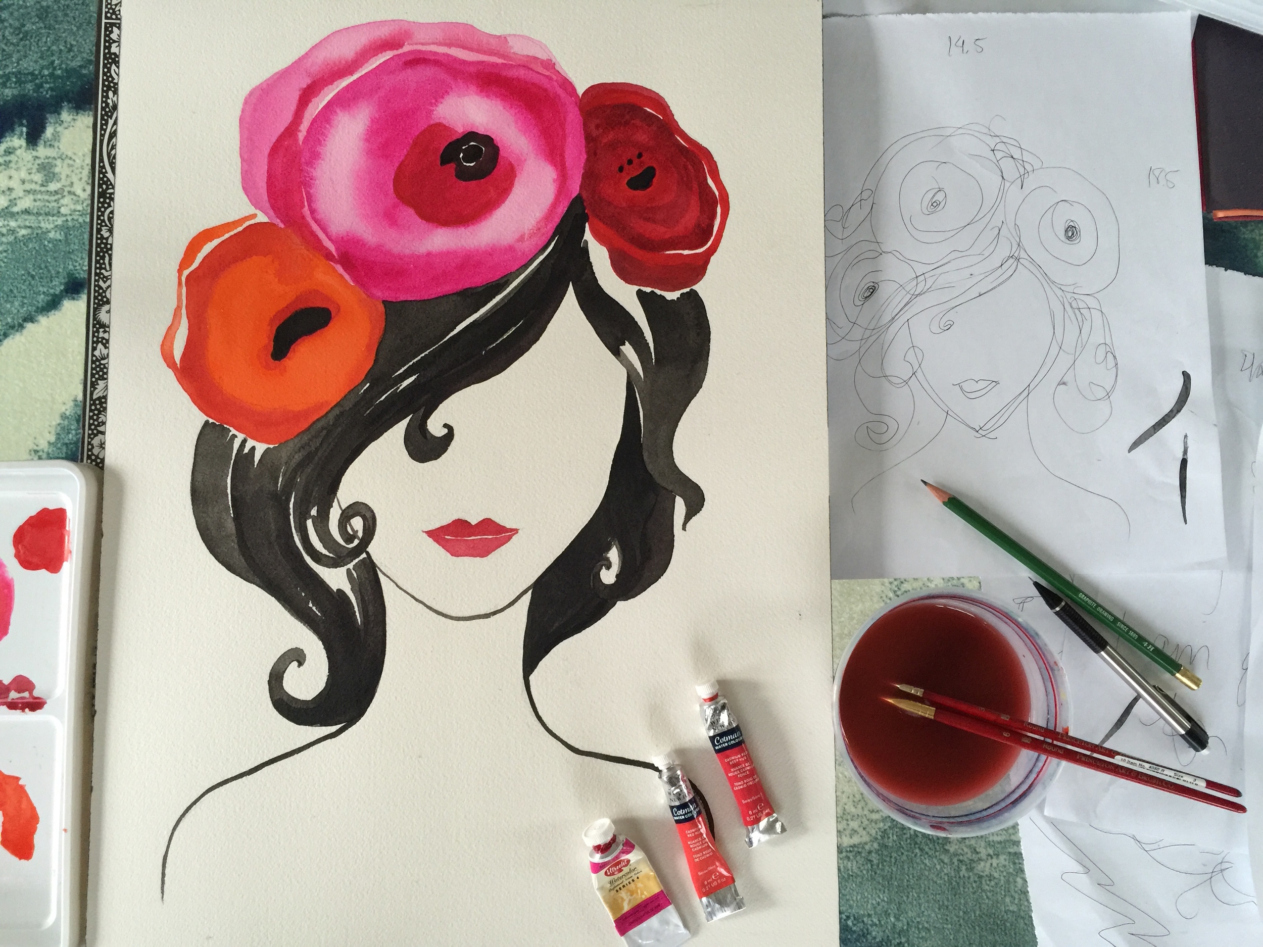 ing_Design_Process_Watercolor_Floral_Flowers_Baby_kids_room_Ceci_style_2.JPG