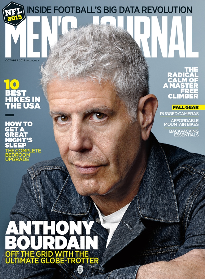 Anthony Bourdain Men's Journal Cover