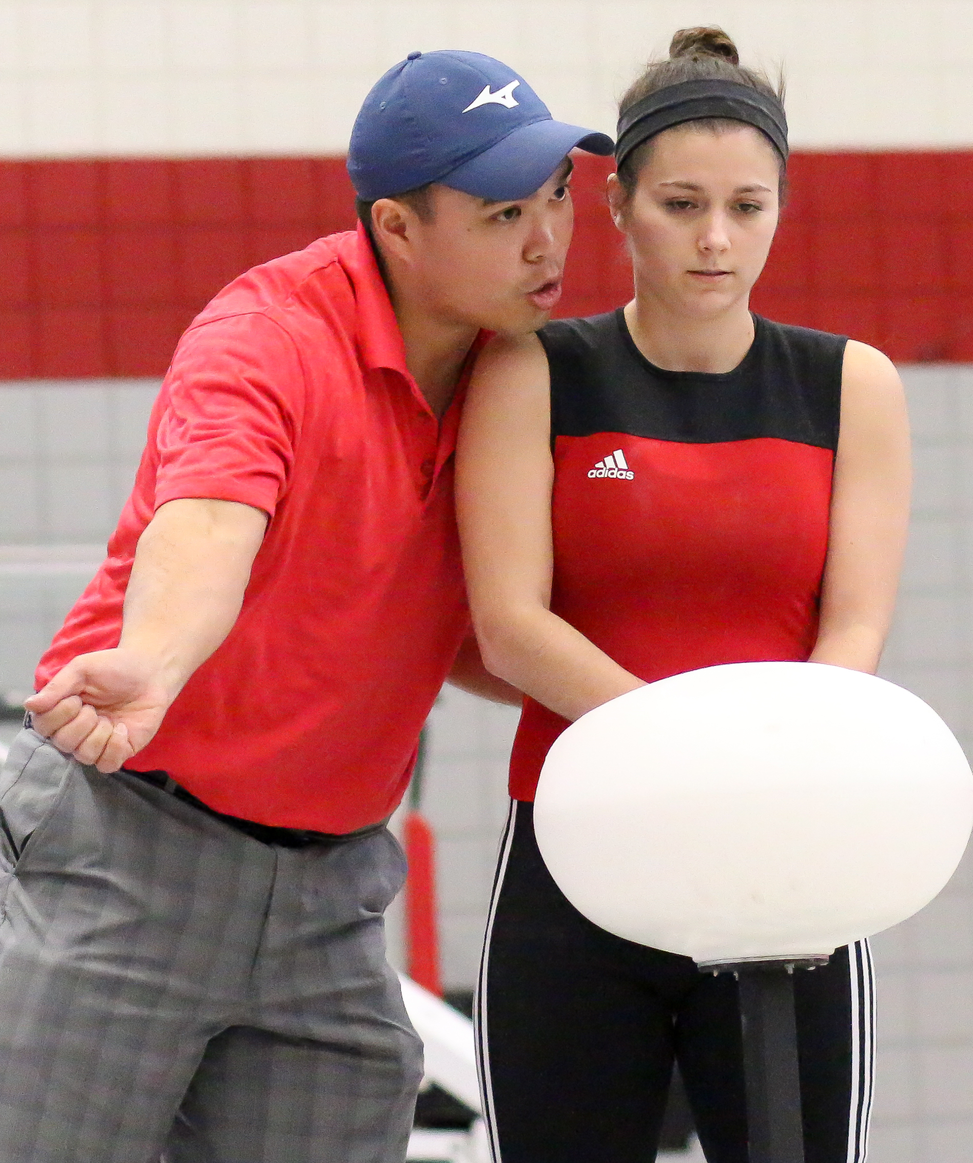 Coach Joel Quintong: Coaching his athlete from the   SHU Club Weightlifting Team  . The club represents   Sacred Heart University  , in the sport of Olympic-Style Weightlifting.
