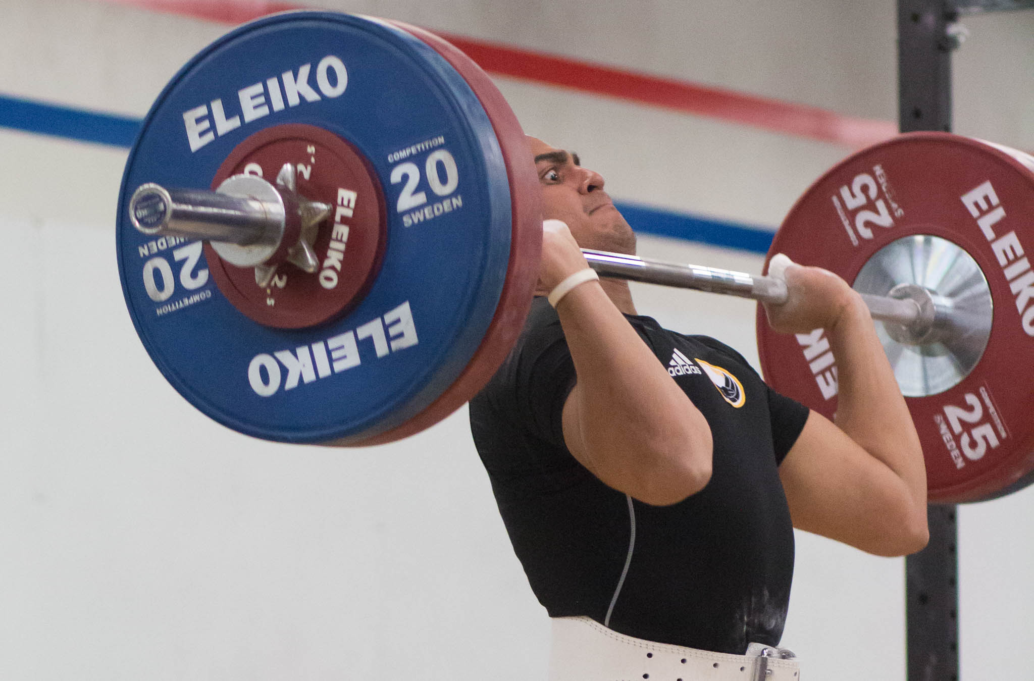 "Almost all weightlifters I speak to will say the same, ""Please don't get my lifting face.""  This photo here you can clearly see he was giving everything he had into this lift.  There is ABSOLUTELY no look of fear or hesitation."