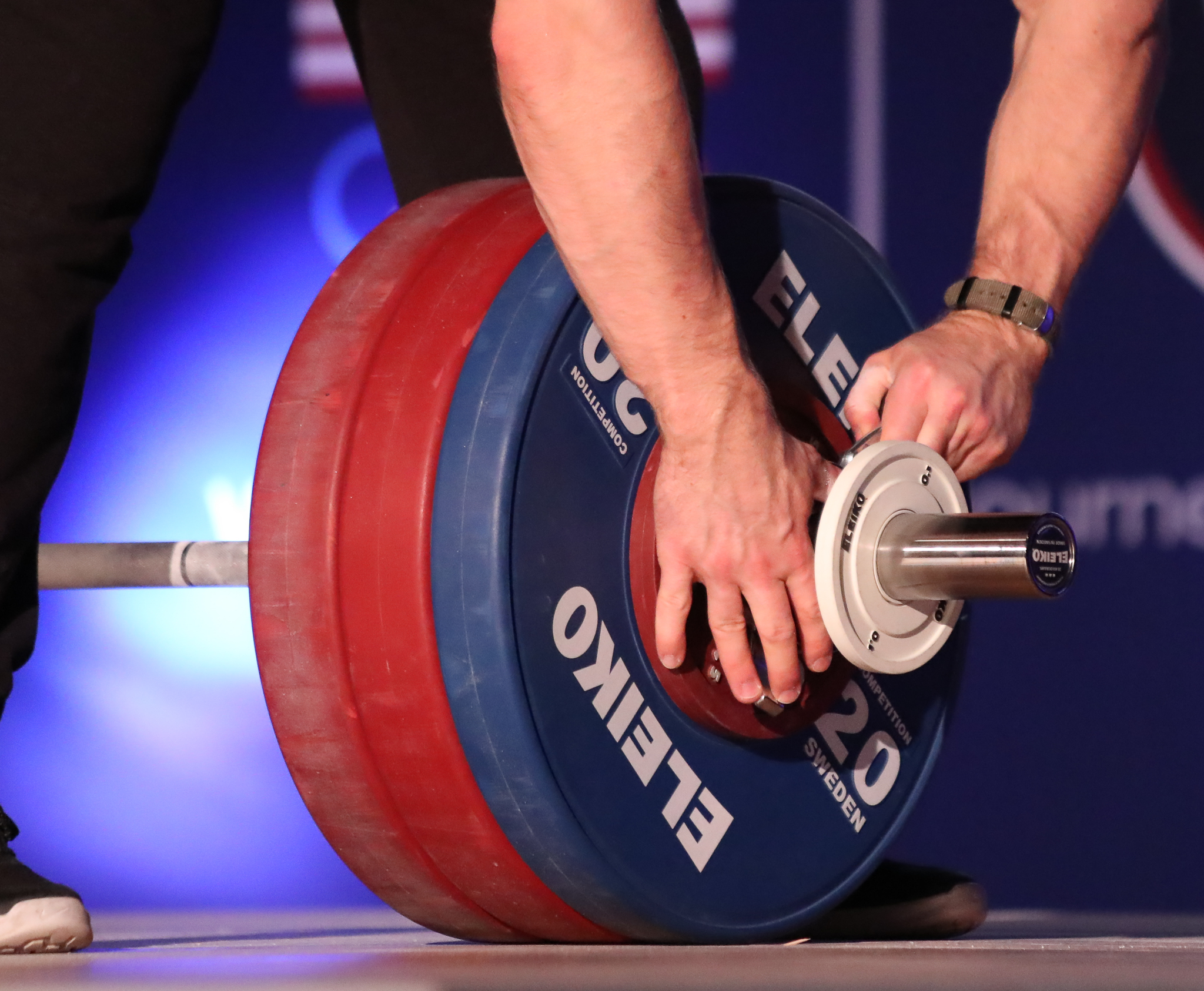 Eleiko Equipment used on the competition platforms.