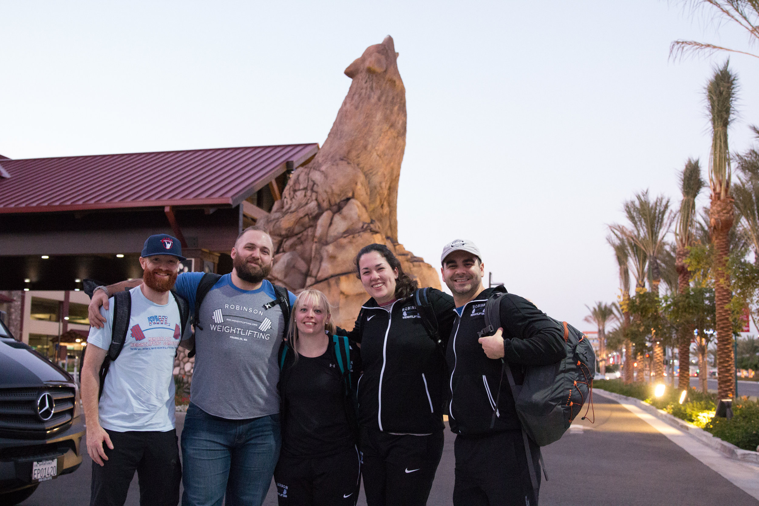 Meeting some of the loaders for The 2017 IWF World Weightlifting Championships.  We shared a shuttle from the airport and I found out Olivia (second in from the right)- followed Everyday Lifters.  I was like.. OH MY GOSH!! yessss... I love meeting you guys and learning about who you are. A very cool moment for me.  Thank you guys for making the trip to the hotel less sucky.