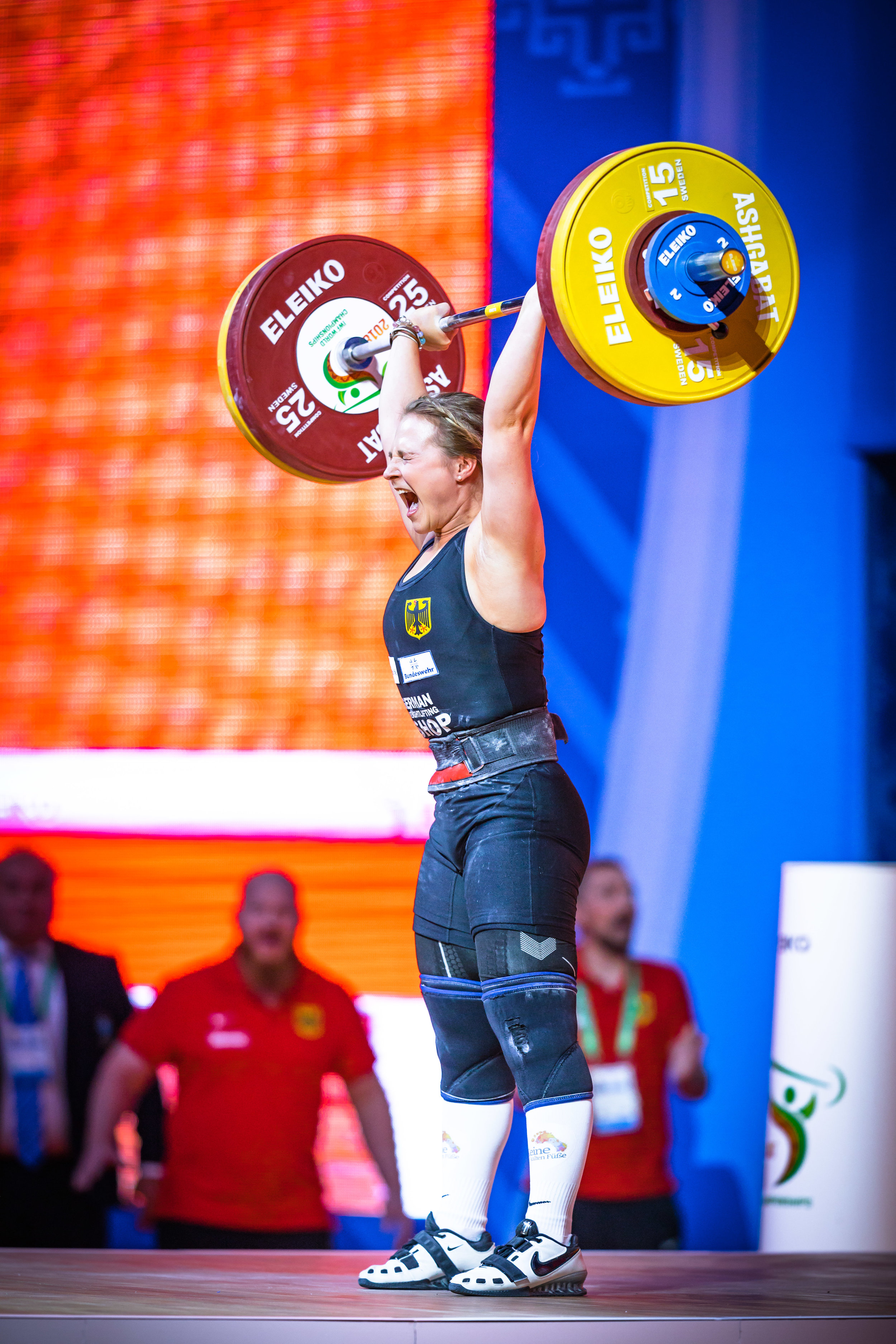 Move over Max and Jurgen- Sabine has stolen my heart. I received the most messages and questions about the women on the team. People were excited to see women from Germany competing.  Btw: What's on her socks? I wanted to know what it said. lol