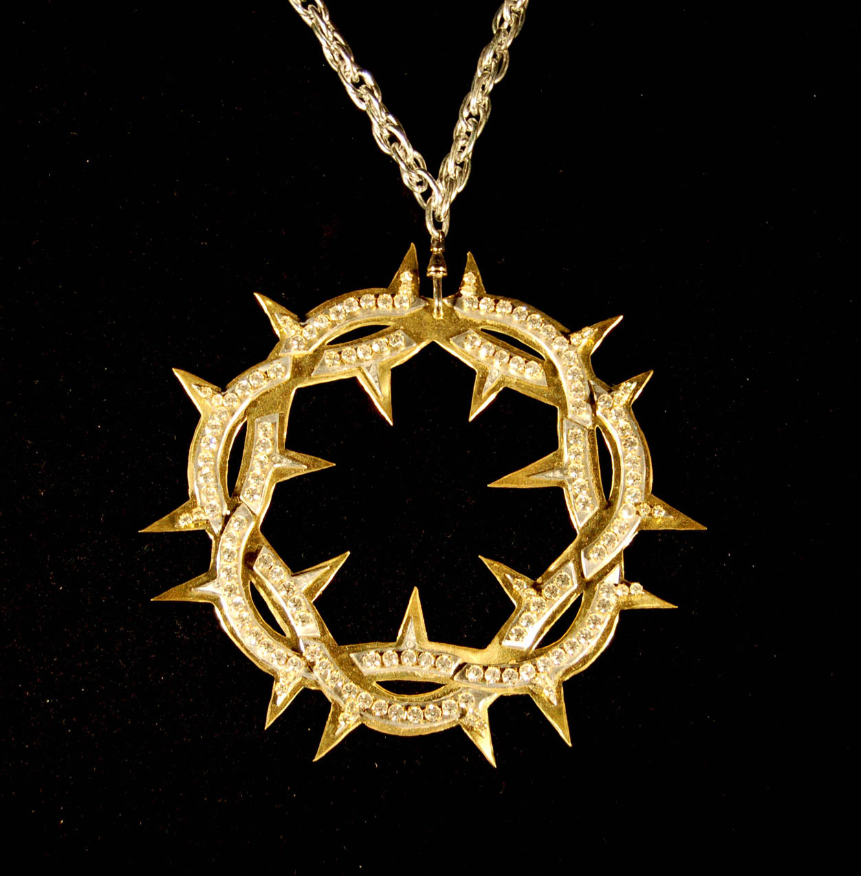 """Crown of Thorns"" 2006, Brass, Aluminum, Rhinestones"