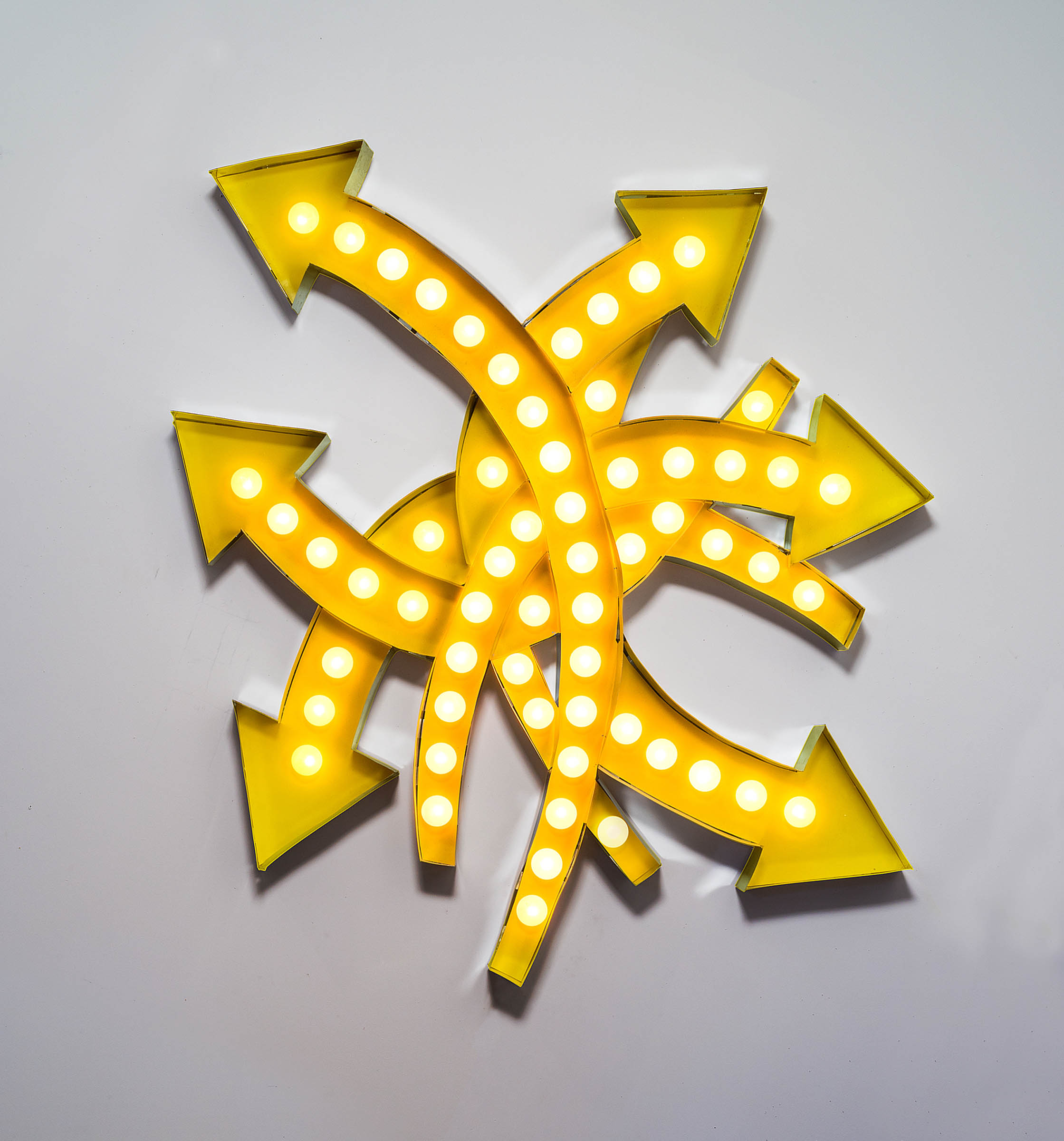 """Pneuma"" 2012, Aluminum, Lights"