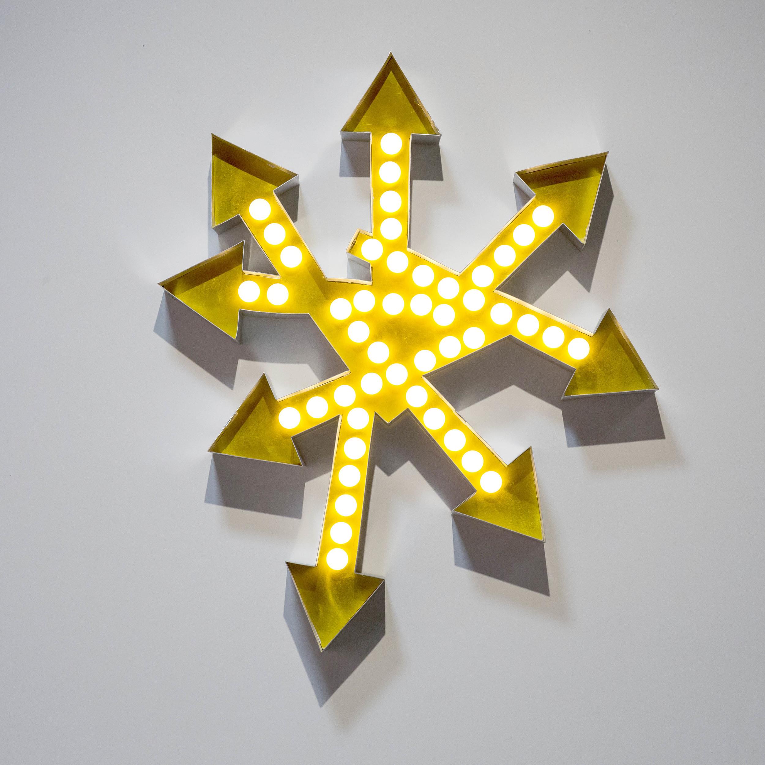 """Ruach"" 2013, Aluminum, Lights"