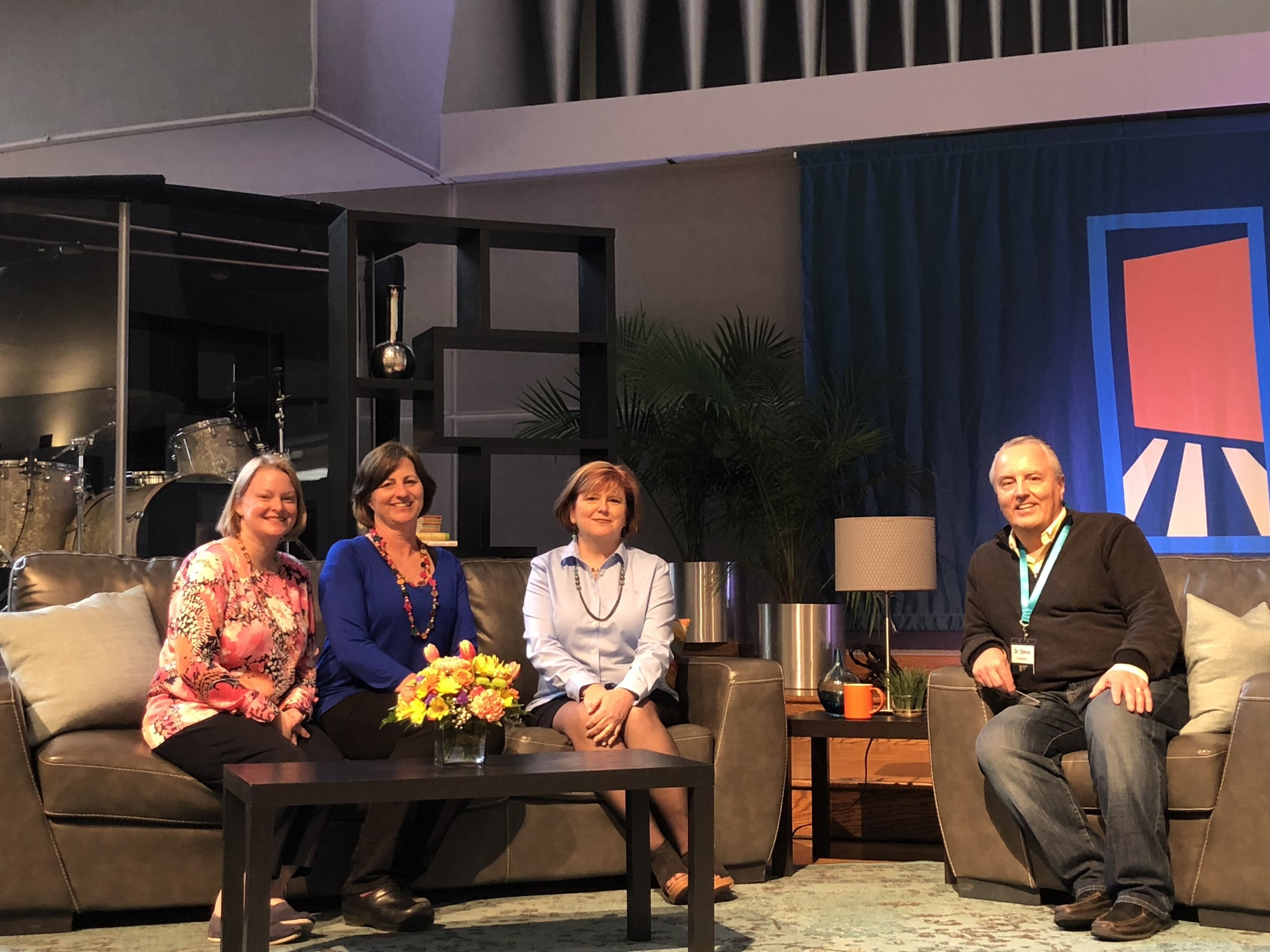 Sandra Peoples, Beth Golik, Barb Dittrich and Dr. Steve Grcevich. Missing: Catherine Boyle