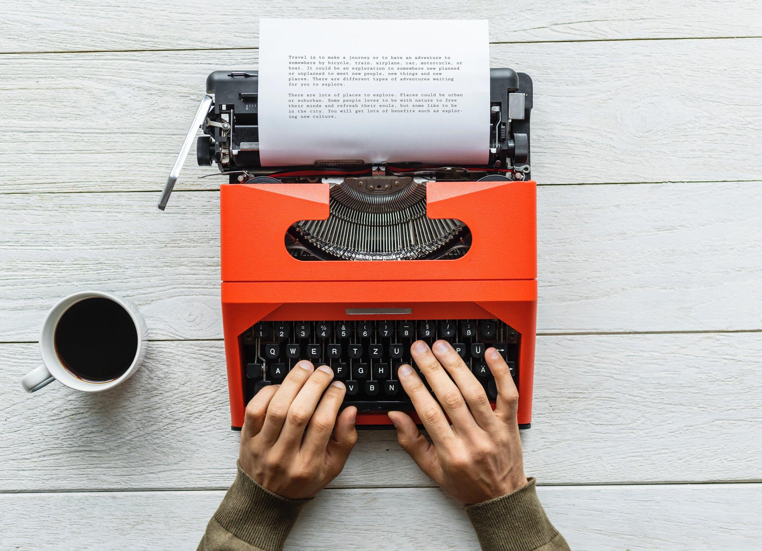 Red typewriter coffe story.jpg