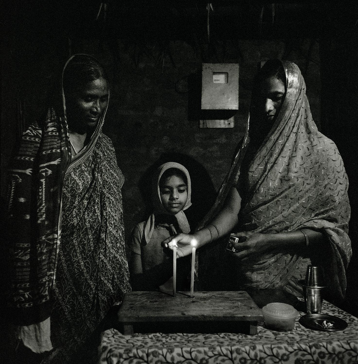 Lighting Candles- Kottareddipalem, India