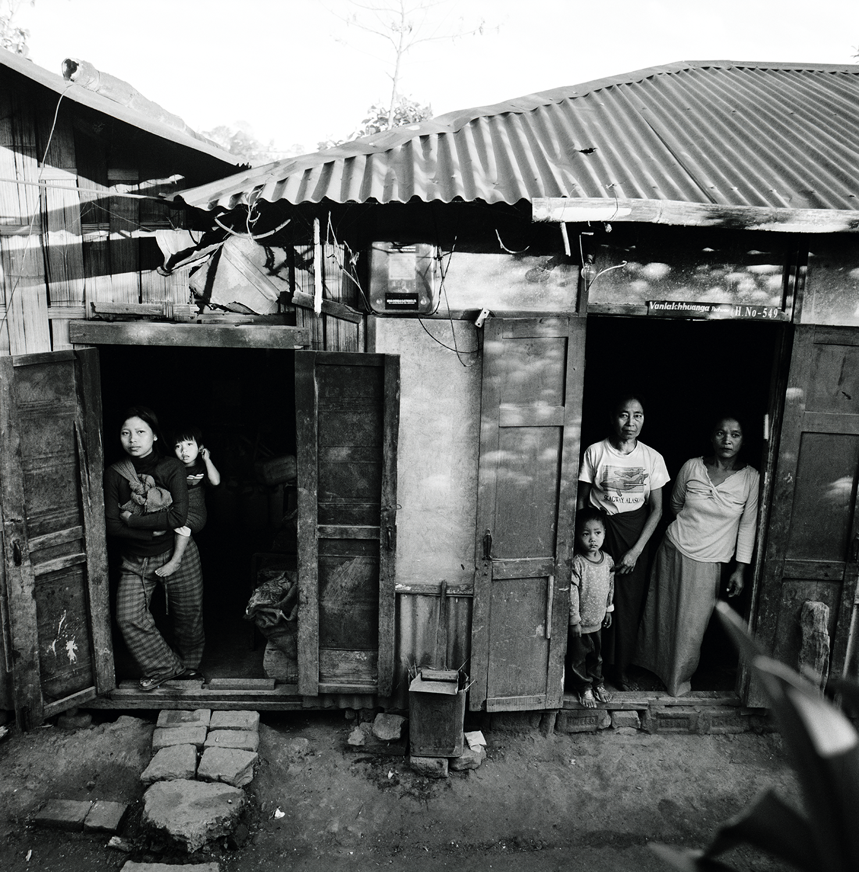 Family at a Rural Outpost- Environs of Aizwal, Mizorim, India