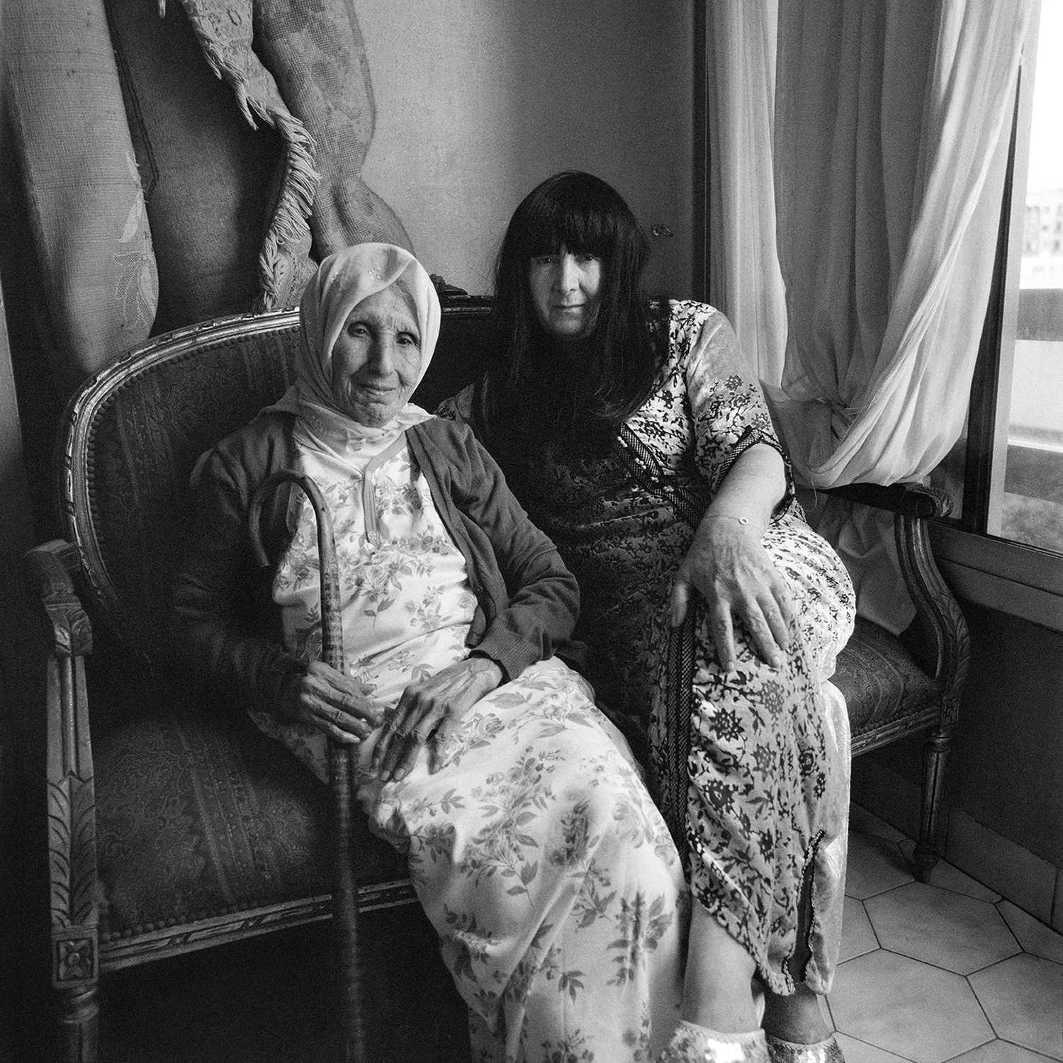 Woman with Childhood Nurse- Casablanca, Morocco