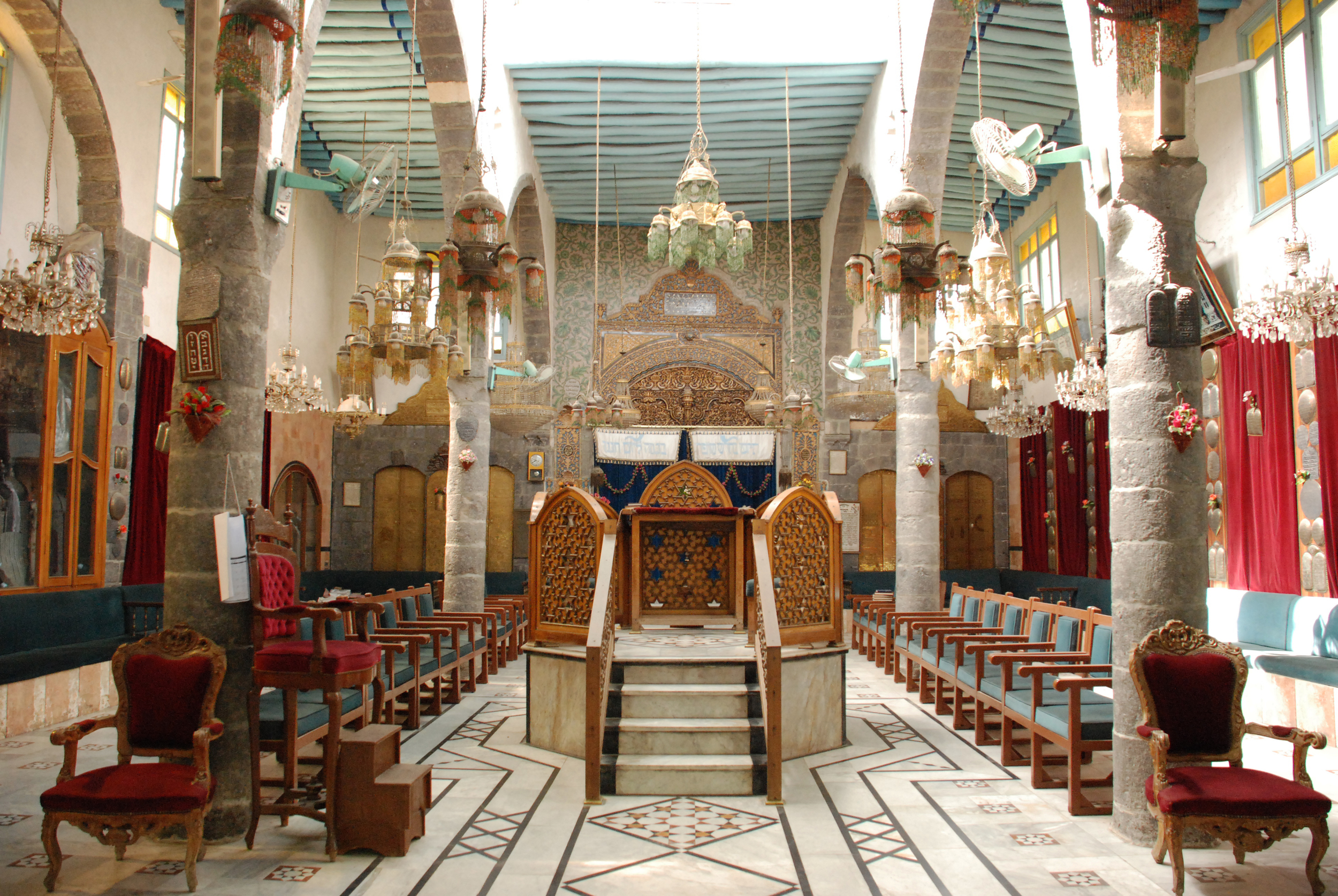 Interior of French Synagogue- Damascus, Syria