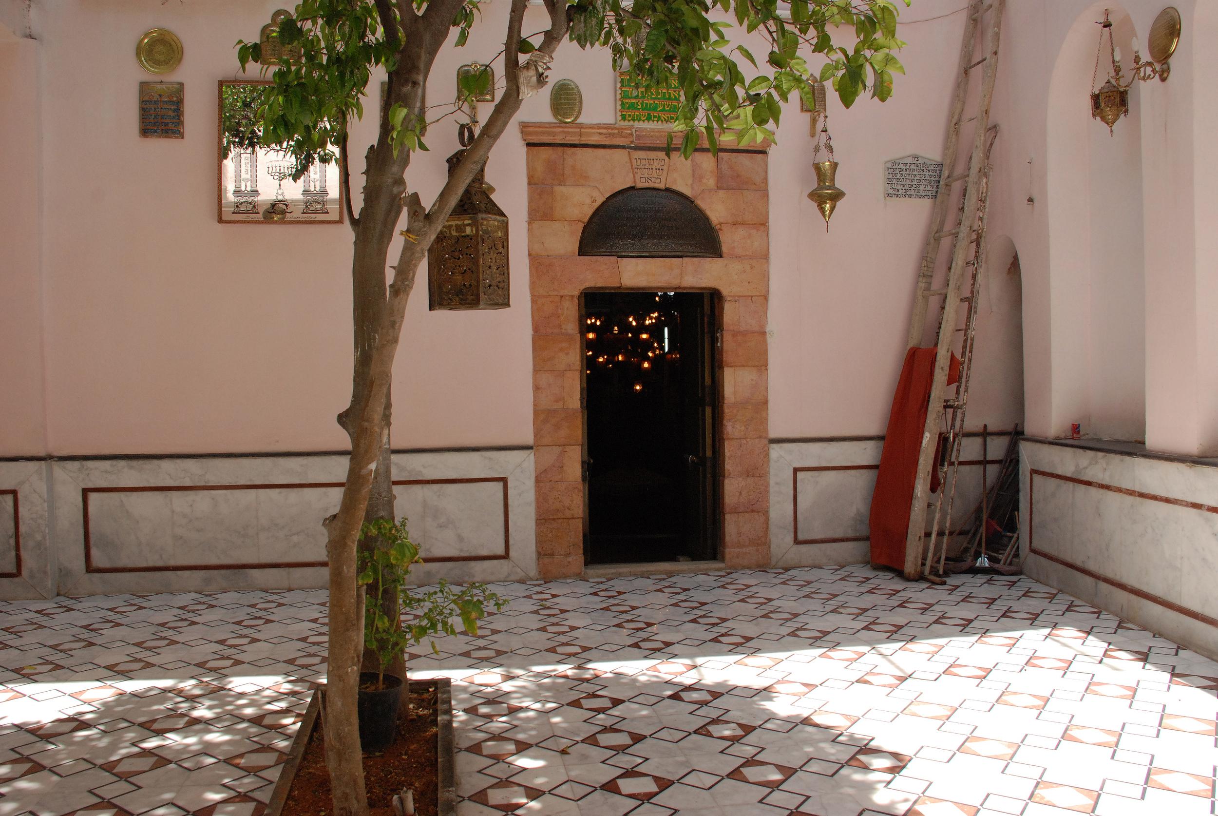 Courtyard of the Jobar Synagogue- Damascus, Syria