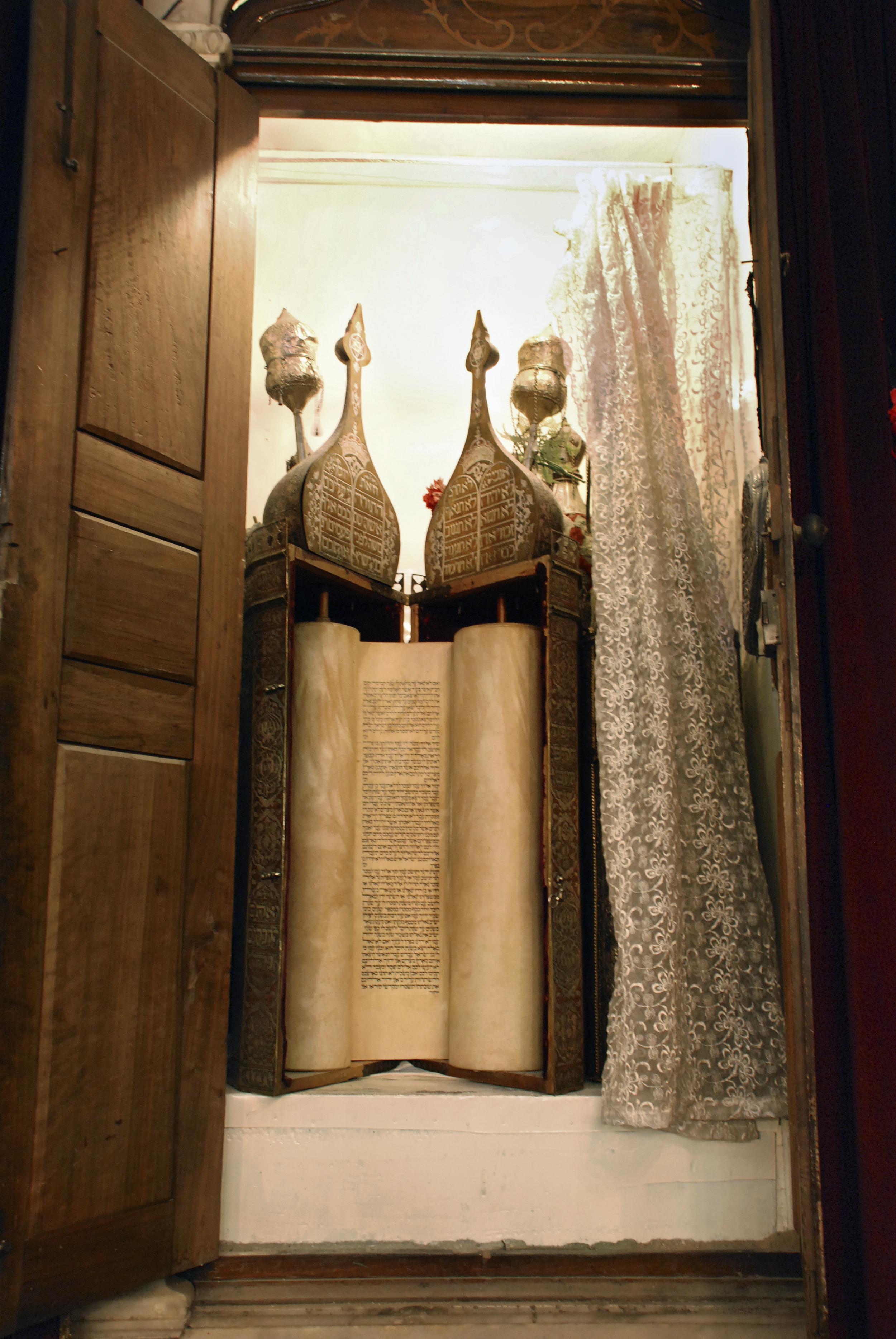 Ancient Torah Scroll at the Jobar- Damascus, Syria