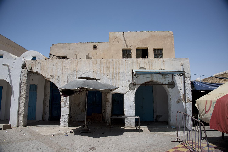 Tataouine synagogue entrance. Tataouine, Tunisia