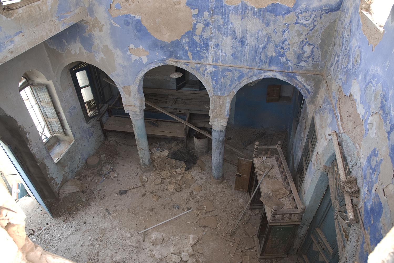 Tataouine synagogue interior. Tataouine, Tunisia