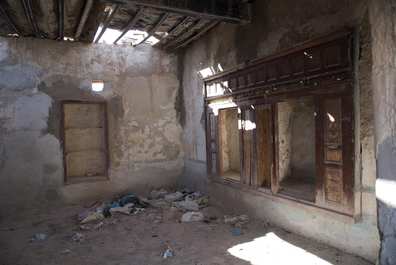 Metameur synagogue ark in dwelling. Metameur, Tunisia